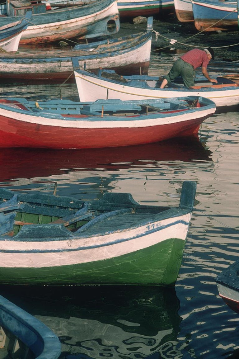 Slim Aarons Estate Edition - Fishing Boats - Photograph by Slim Aarons