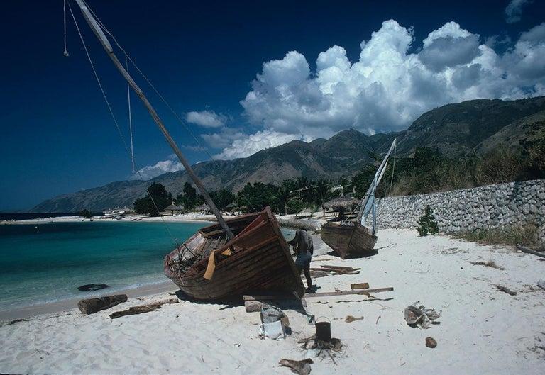 Slim Aarons Estate Edition - Hull Repairs In Haiti - Photograph by Slim Aarons