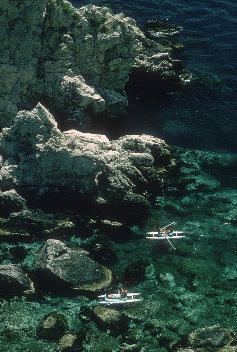 Slim Aarons Estate Edition - Rowing Off Sicily - Photograph by Slim Aarons