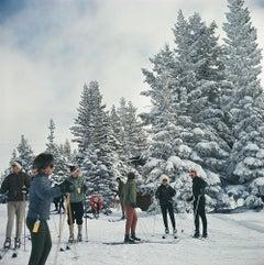 Slim Aarons Estate Edition - Skiing In Vail