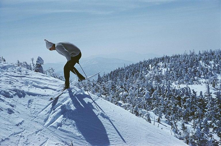Slim Aarons Estate Edition - Sugarbush Skiing - Photograph by Slim Aarons