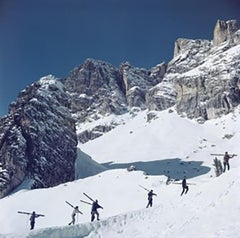 Slim Aarons Estate Edition - Walking Up Cortina d'Ampezzo