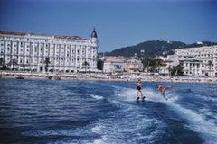 Slim Aarons Estate Print - Cannes Watersports 1958 - Oversize