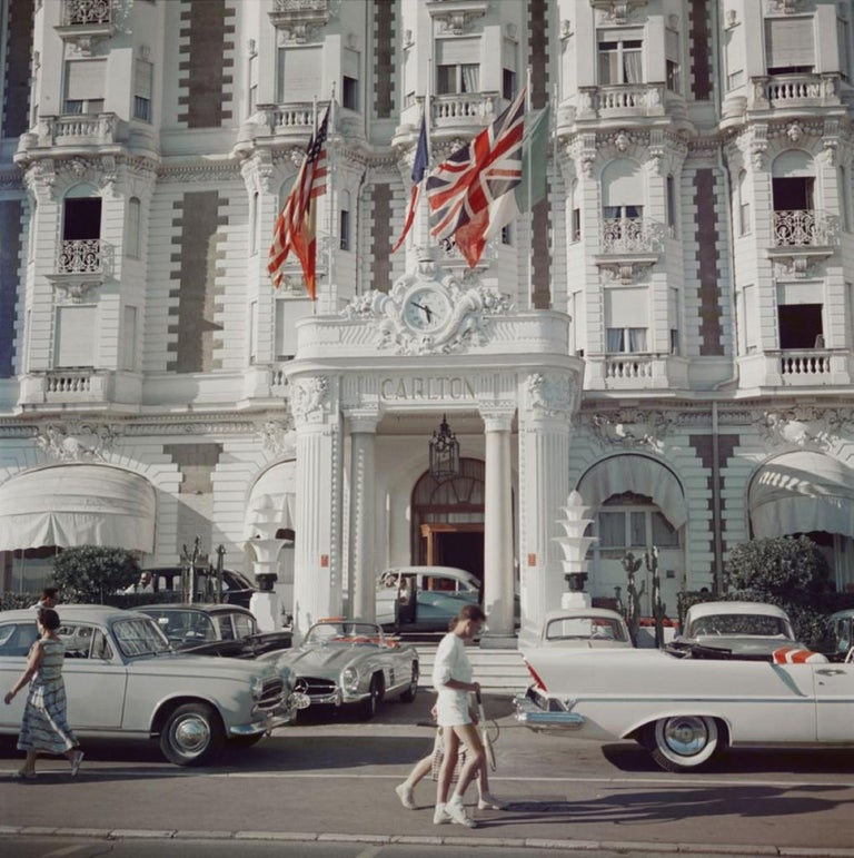 Slim Aarons Estate Print - Carlton Hotel 1958 - Photograph by Slim Aarons