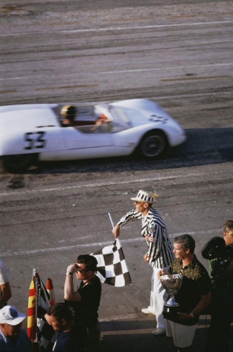 Slim Aarons Estate Print - Checkered Flag 1963 - Oversize - Photograph by Slim Aarons