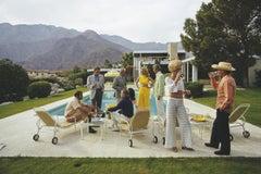 Slim Aarons Estate Print - Desert House Party 1970 - Oversize