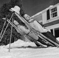 Slim Aarons Estate Print - New England Skiing 1955 - Oversize