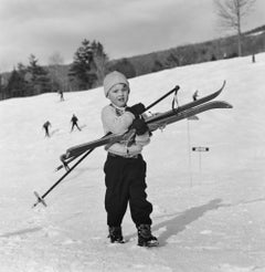 Slim Aarons Estate Print - New England Skiing Starters 1955 - Oversize
