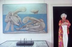 Slim Aarons Estate Print - Peggy Guggenheim 1978 - Oversize