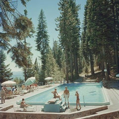 Slim Aarons Estate Print - Pool At Lake Tahoe - Oversize C print