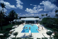 Slim Aarons Estate Print - Pool In Palm Beach 1985- Oversize