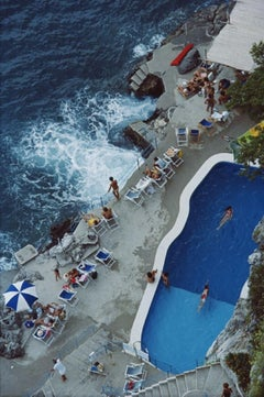 Slim Aarons Estate Print - Pool On Amalfi Coast 1984 - Oversize