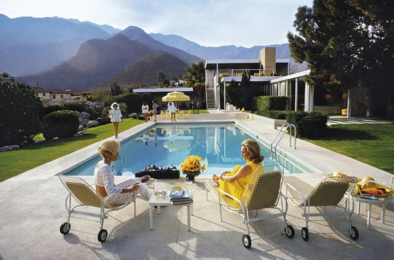 Slim Aarons Estate Print - Poolside Glamour 1970 - Oversize - Photograph by Slim Aarons