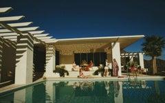 Slim Aarons Estate Print - Poolside In Arizona 1973