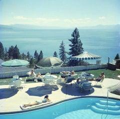 Slim Aarons Estate Print - Relaxing At Lake Tahoe 1959 - Oversize
