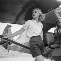 Slim Aarons Estate Print - Seaplane At Palm Beach 1955