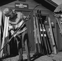 Slim Aarons Estate Print - Ski Instructors Only 1955