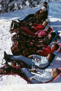 Slim Aarons Estate Print - Winter Suntans 1960 - Oversize
