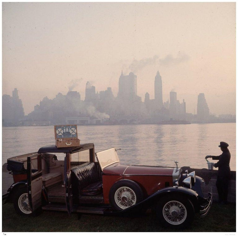 Slim Aarons Estate Stamped - New York Picnic - Photograph by Slim Aarons