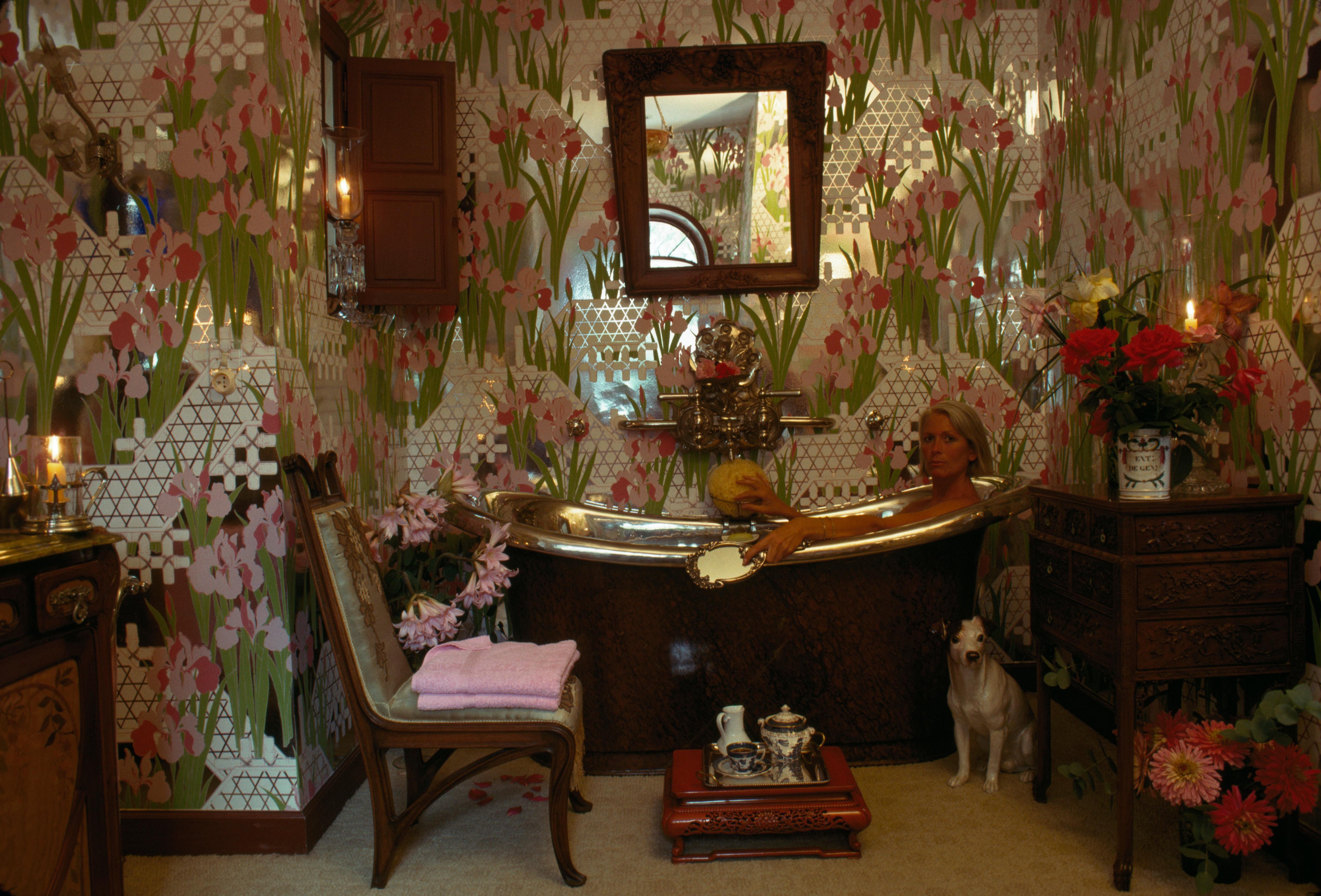 Slim Aarons, 'French Bath' (Slim Aarons Estate Edition)