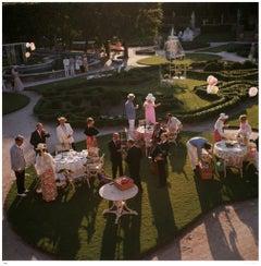 Slim Aarons - Garden party - Estate Stamped