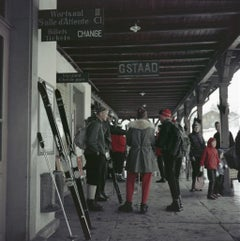 Slim Aarons - Gstaad Station - Estate Stamped
