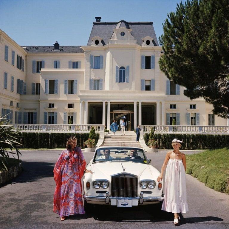 Slim Aarons - Hotel Du Cap-Eden-Roc - Estate Stamped - Photograph by Slim Aarons