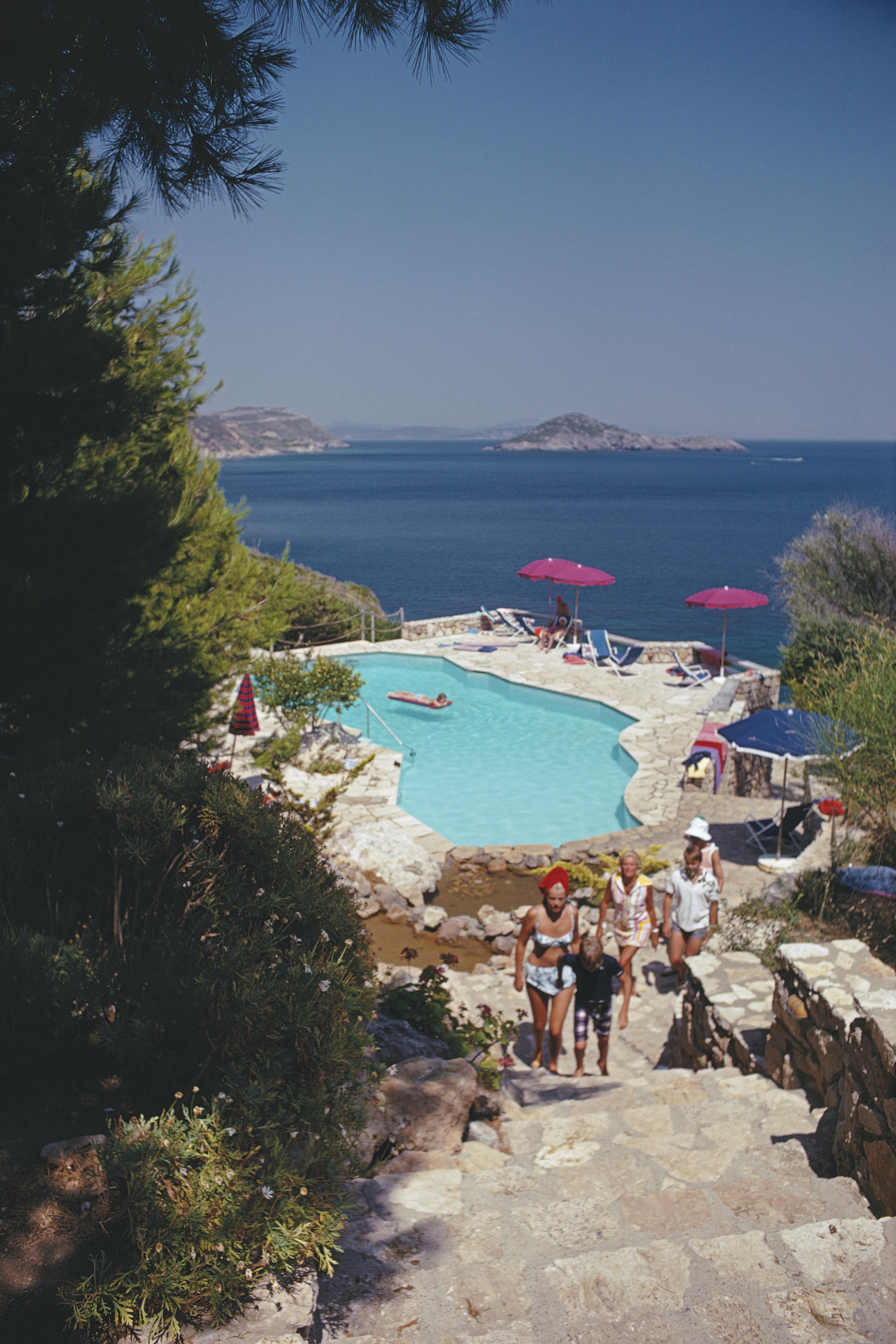 Slim Aarons, Il Pellicano Pool, 1969 (Slim Aarons Estate Edition)