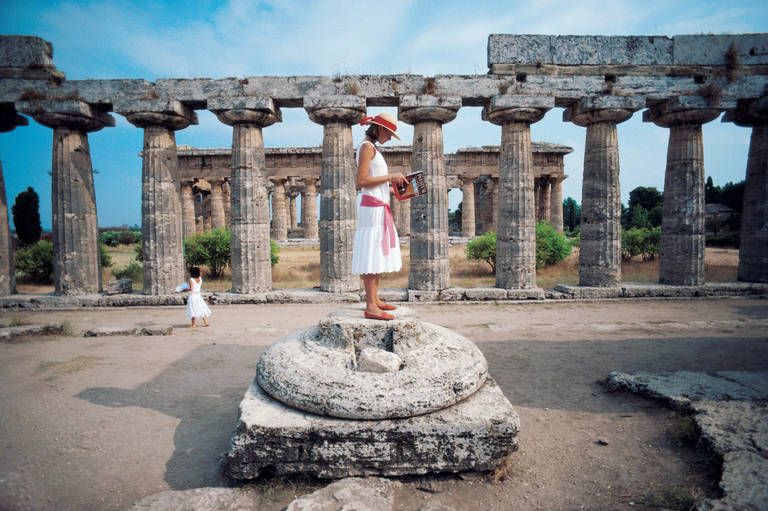 Slim Aarons  Laura Hawk amid the ruins of Paestum, Gulf of Salerno, Greece