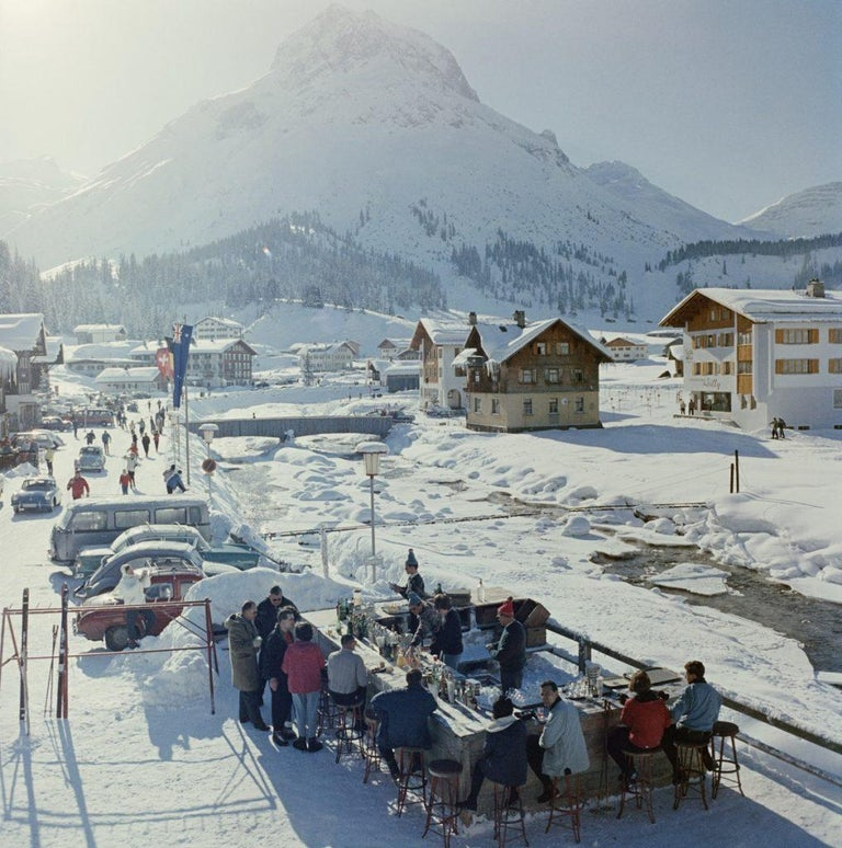 Slim Aarons - Lech Ice Bar - Estate Stamped - Photograph by Slim Aarons