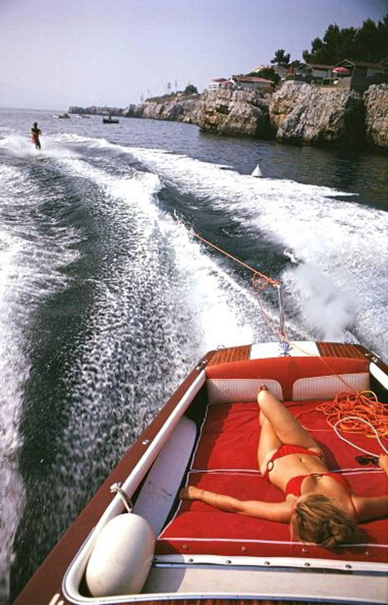Slim Aarons 'Leisure in Antibes' (Slim Aarons Estate Edition) - Photograph by Slim Aarons