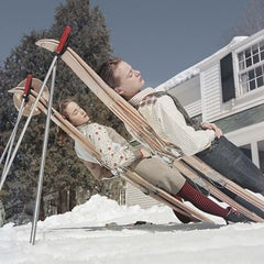 Slim Aarons 'New England Skiing' (Slim Aarons Estate Edition)