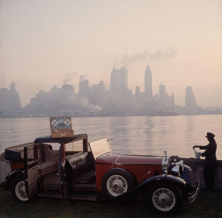 Slim Aarons - New York Picnic - Estate Stamped  - Photograph by Slim Aarons