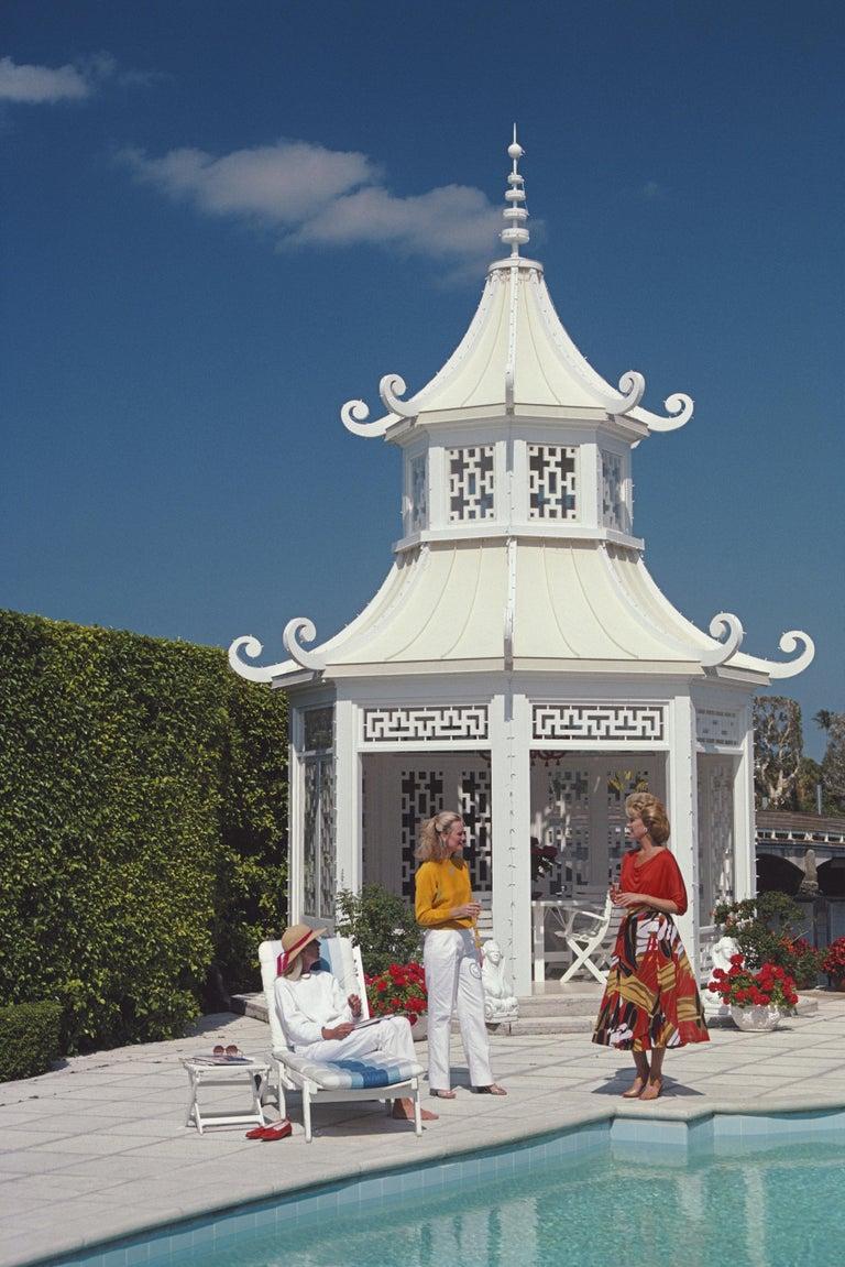 Slim Aarons, Palm Beach Pagoda, Everglades Island (Slim Aarons Estate Edition) - Photograph by Slim Aarons