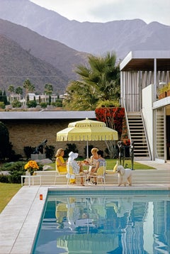 Slim Aarons - Poolside Friendship - NEW Archive discovery - Estate Print