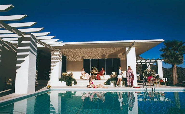 "Slim Aarons, ""Poolside in Arizona"" (Architecture, Desert, Pool, 1970's) - Photograph by Slim Aarons"