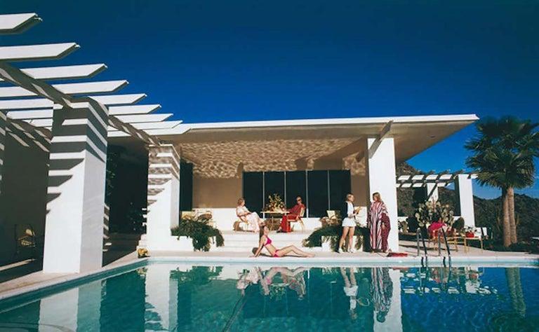 "Slim Aarons, ""Poolside in Arizona"" (Midcentury Architecture, Vintage Desert) - Photograph by Slim Aarons"