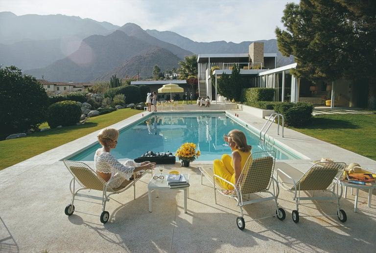 Slim Aarons, Poolside Pairs (Aarons Estate Edition) - Photograph by Slim Aarons