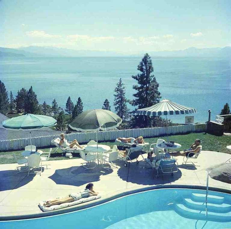 Slim Aarons, Relaxing At Lake Tahoe