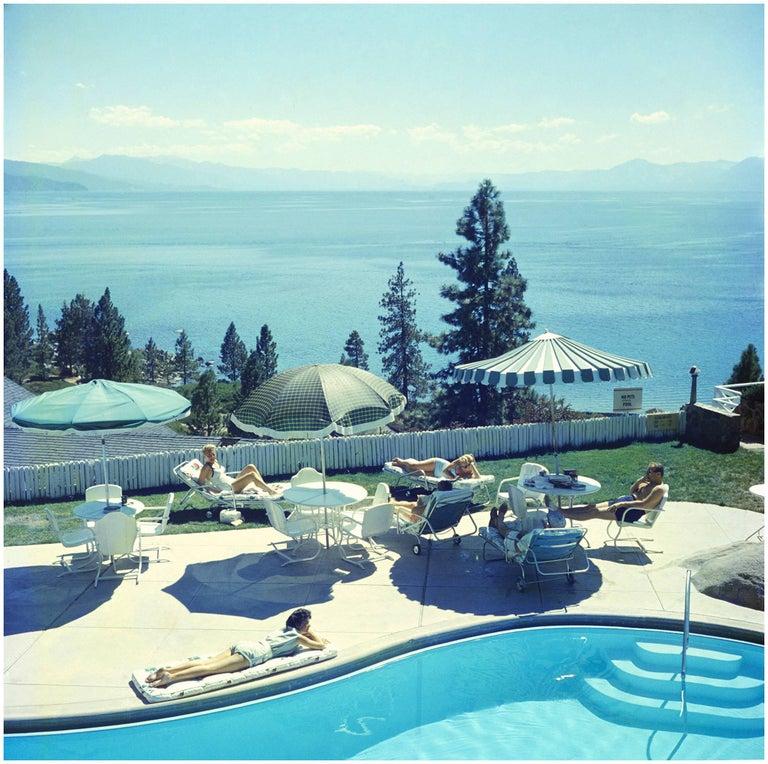 Slim Aarons Relaxing at Lake Tahoe (Slim Aarons Estate Edition) - Photograph by Slim Aarons