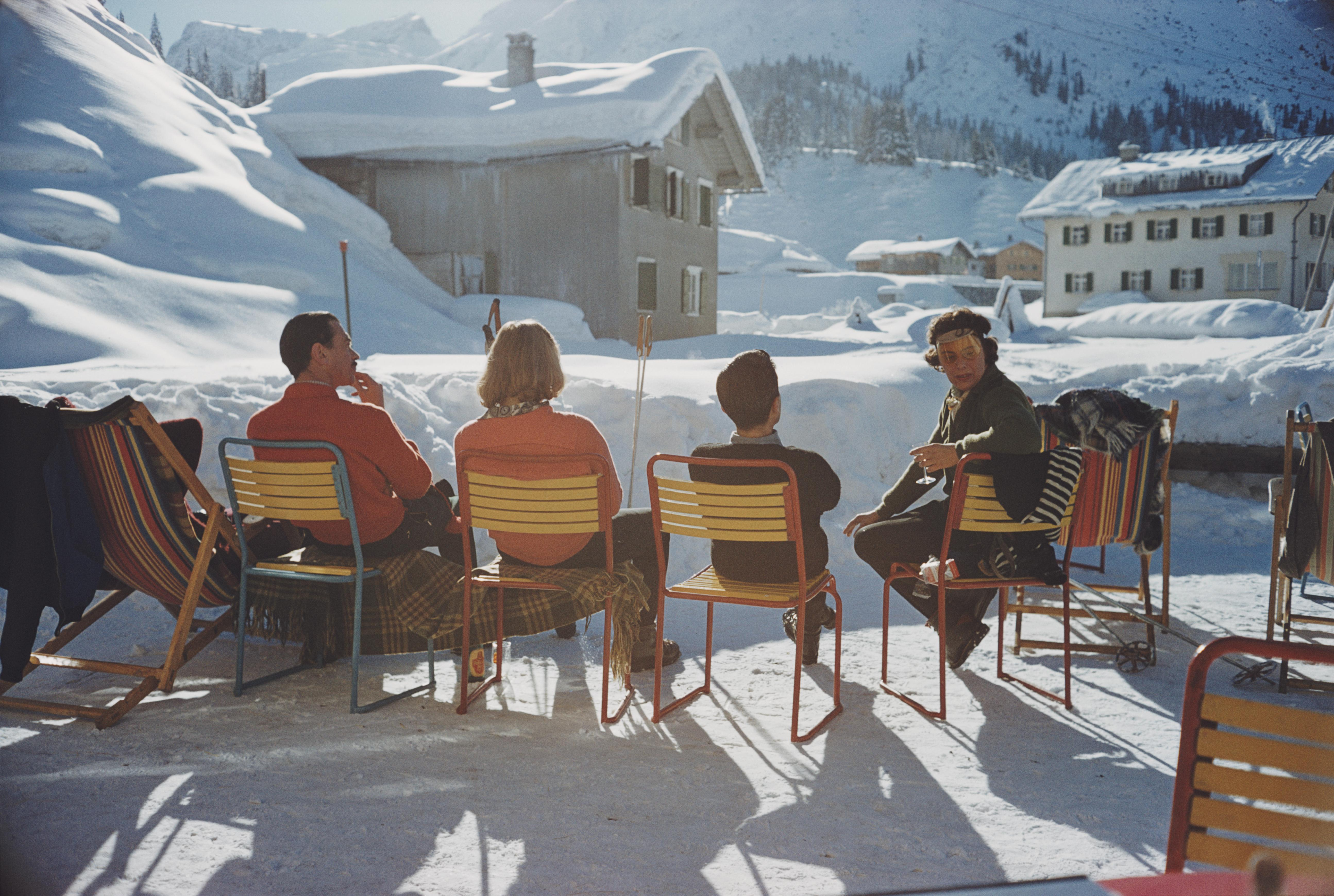 Slim Aarons 'Relaxing in Lech'