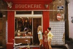 Saint-Tropez Boucherie, French Riviera, Estate Edition Photograph, Classic Red
