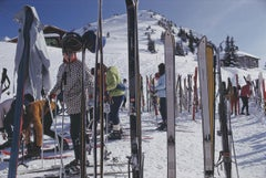Slim Aarons, Skiers At Gstaad (Estate Edition)