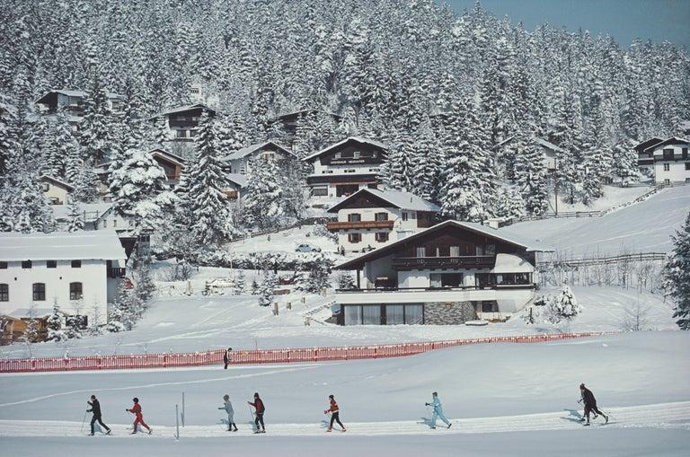 Slim Aarons, Skiing In Seefeld - Photograph by Slim Aarons