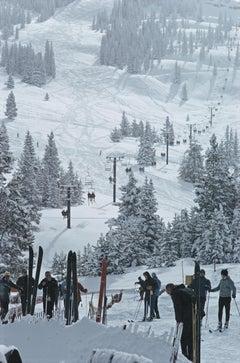 Slim Aarons 'Skiing In Vail'