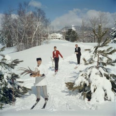 Slim Aarons - Skiing Waiters - Estate Stamped