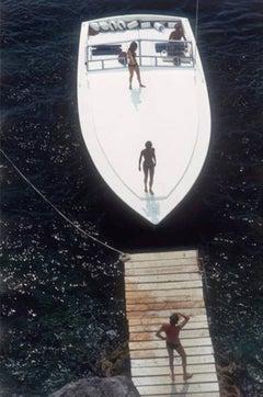 Slim Aarons 'Speedboat Landing' 1973 (Porto Ercole, Italy) Estate Edition