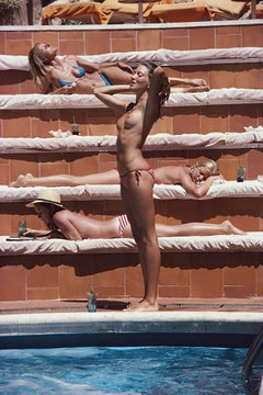 Slim Aarons, Sunbathing in Capri, Catherine Wilke