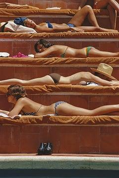 Slim Aarons 'Sunbathing in Capri' (Slim Aarons Estate Edition)