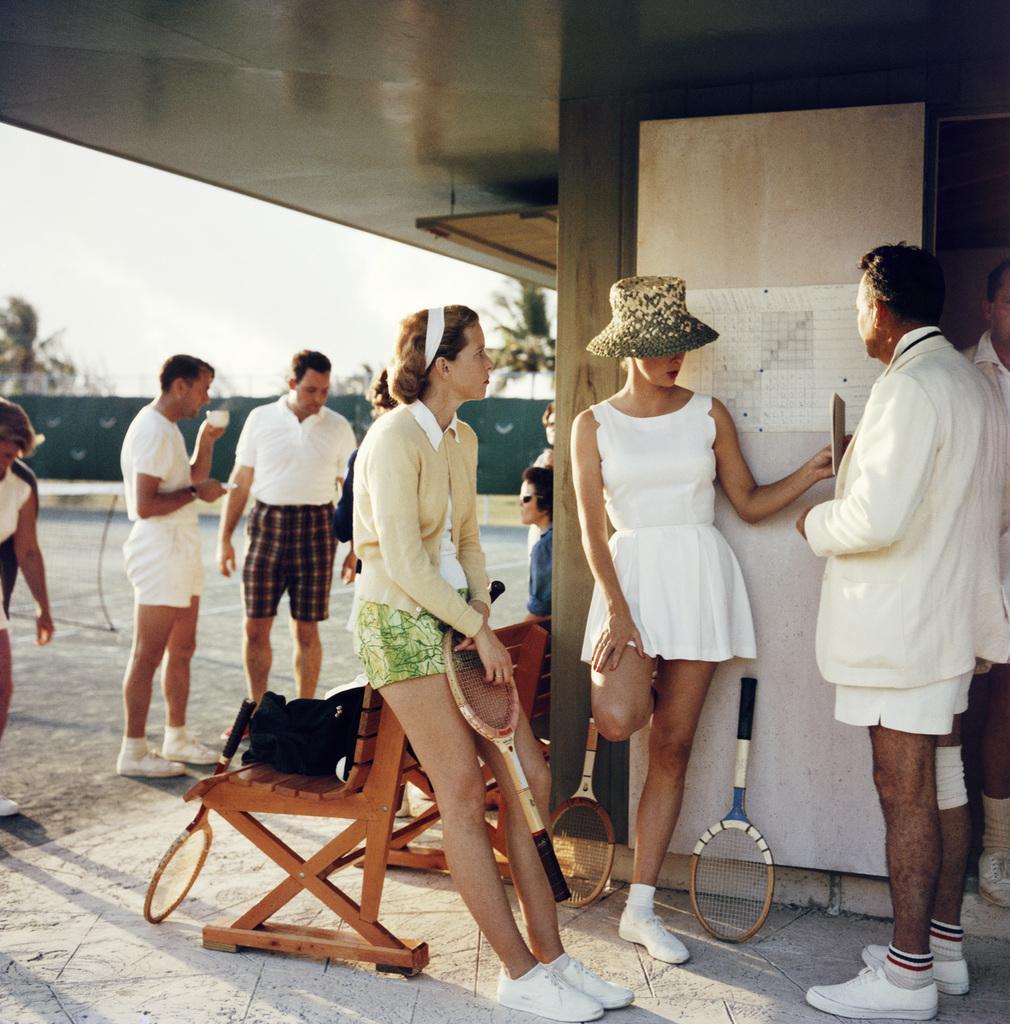 Slim Aarons 'Tennis in the Bahamas' Oversize 40 x 40 Photography Print